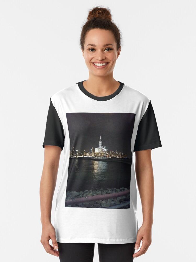 Alternate view of New York Night Graphic T-Shirt
