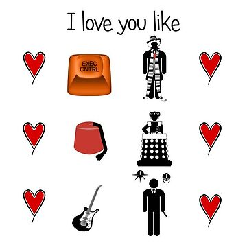 Whovian Valentine's Card by mime666