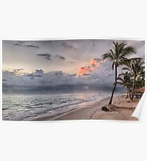 beach sunset Poster