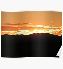 Sunset over the west Texas skies Poster