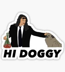 Hi Doggy Sticker