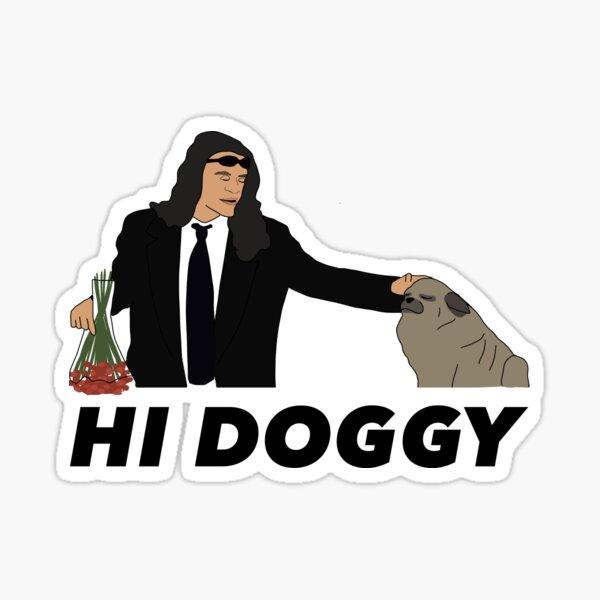 Hi Doggy Sticker