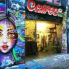 Hosier Lane Coffee Shop by Roz McQuillan
