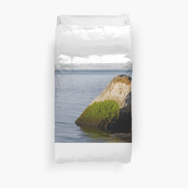 Mossy Rock | Nature Photography Duvet Cover