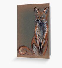 Foxy - Original prisma pencil drawing of a beautiful fox Greeting Card
