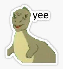 Yee Dinosaur Meme  Sticker