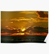 Chipiona Sunset over Los Corrales Poster