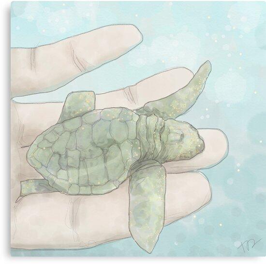 Baby Sea Turtle by PenguinLeaf