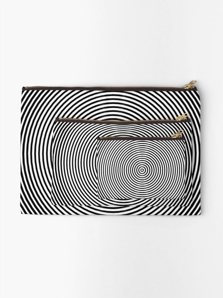 Alternate view of Amazing optical illusion Zipper Pouch