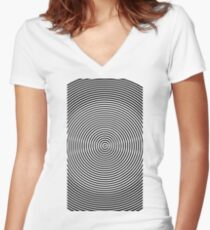 Amazing optical illusion Women's Fitted V-Neck T-Shirt