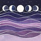 Purple Mountains and Moon by Carrie Alyson