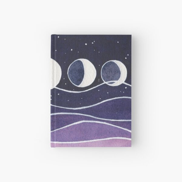 Purple Mountains and Moon Hardcover Journal