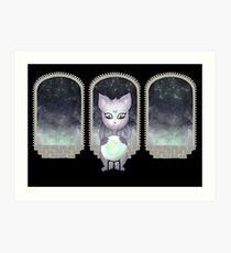 Mystic Miku | Crystal Ball & Zodiac | Black Art Print