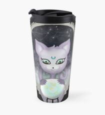 Mystic Miku | Crystal Ball & Zodiac | Black Travel Mug