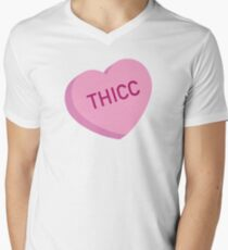 Thicc Candy Heart V-Neck T-Shirt