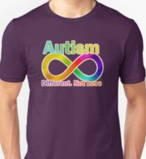 Autism.  Different.  Not Less. Unisex T-Shirt