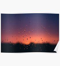 Sunset Droplets Poster
