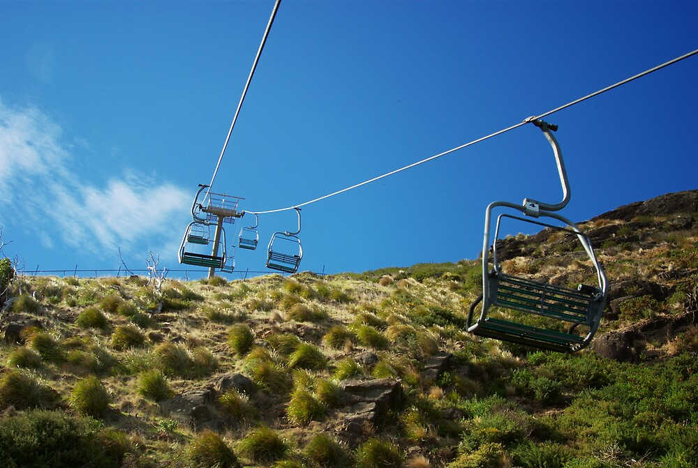 Chairlift in Stanley, Tasmania by groophics