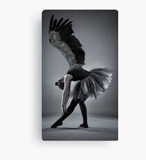 Winged ballerina in monochrome Canvas Print