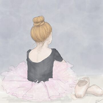 Little Waiting Ballerina by PenguinLeaf