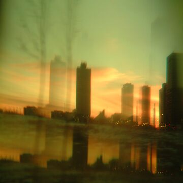 drive by city sunrise by FrancisAWilley