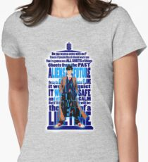 time traveller Quotes Typograph Women's Fitted T-Shirt