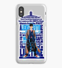time traveller Quotes Typograph iPhone Case