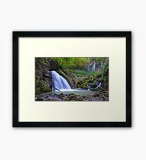 Panorama of a waterfall in Apuseni, Romania Framed Print