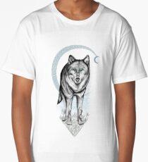 Spirit Wolf & the Crescent Moon Long T-Shirt