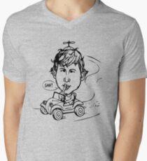Rude Man Who Shushes, Please Call T-Shirt mit V-Ausschnitt
