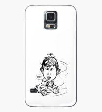 Rude Man Who Shushes, Please Call Hülle & Klebefolie für Samsung Galaxy