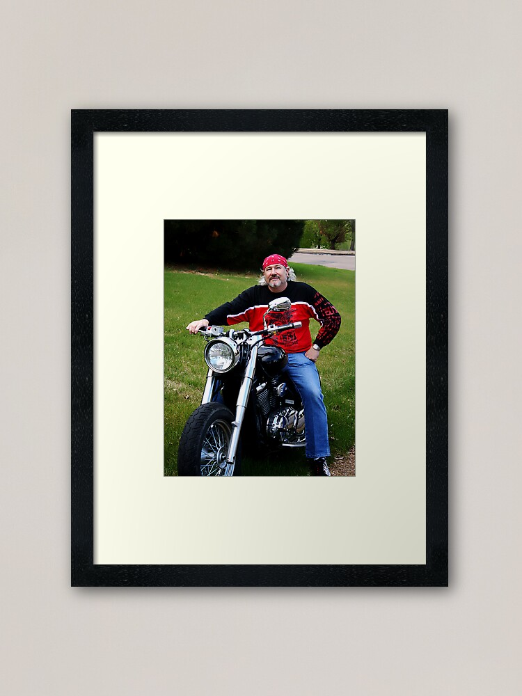 Alternate view of Got The Itch For a Bike Again Framed Art Print