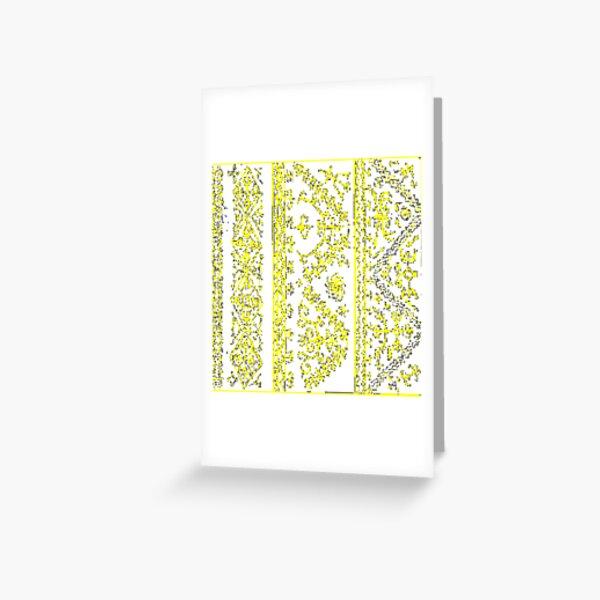 Ancient fantastic patterns Greeting Card