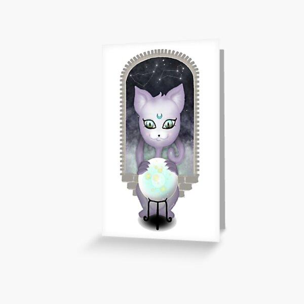 Mystic Miku | Crystal Ball | Close up Greeting Card