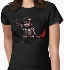 Black cat warrior Women's Fitted T-Shirt