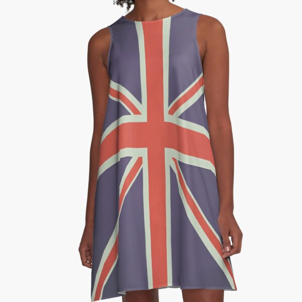 British Mod Union Jack Design A-Line Dress