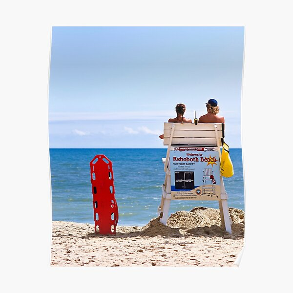 Rehoboth Beach, Delaware, Lifeguards Poster
