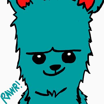 BEARBEAR (teal) by MIGHTYFINE