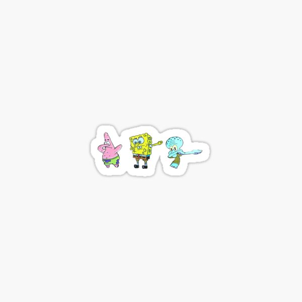 spongebob dab Sticker