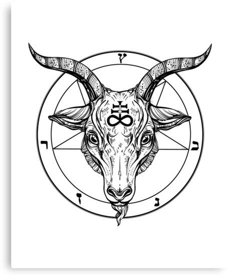 Quot Baphomet Goat Head With Pentagram Occult Symbolism Or