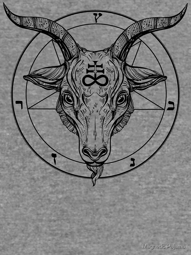 Baphomet Goat Head With Pentagram Occult Symbolism Or Satanist