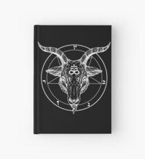Cuaderno de tapa dura Baphomet cabeza de cabra con Pentagram Ocultismo simbolismo o símbolos satanistas