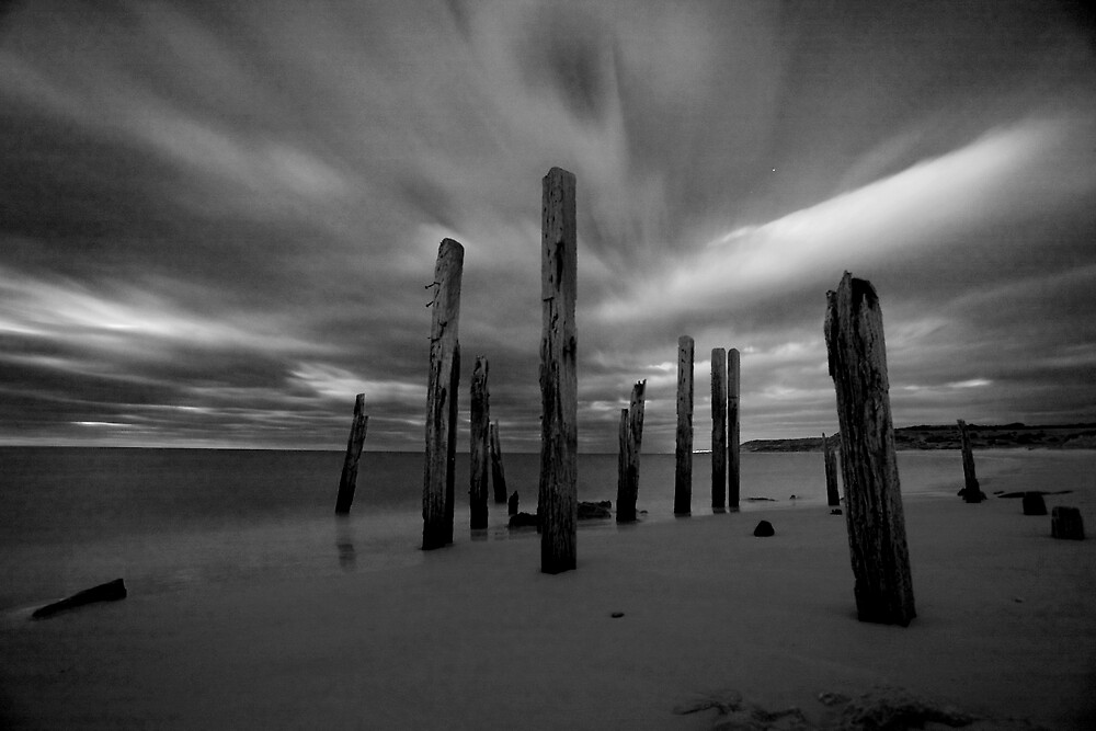 Old Wilhunga Jetty by Michael Bates