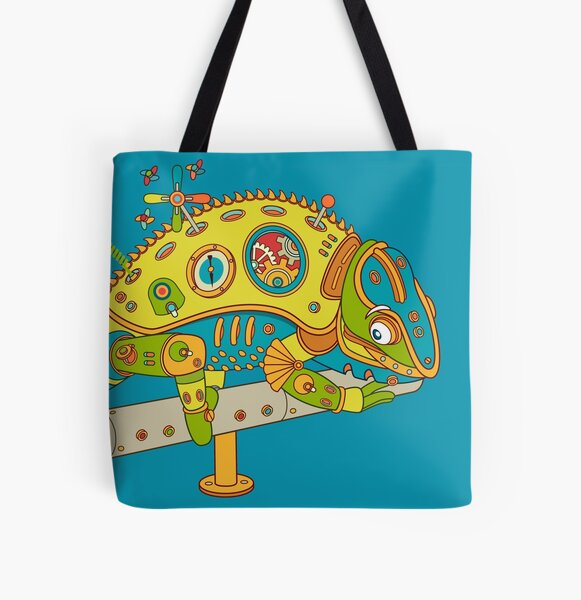 Chameleon, from the AlphaPod collection All Over Print Tote Bag