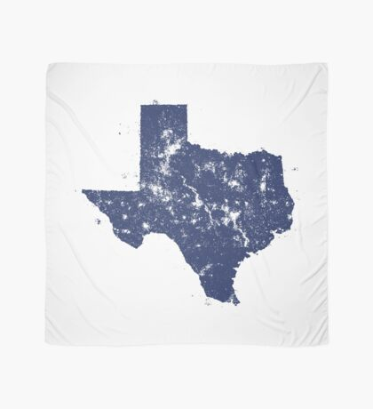 Distressed State Map Silhouette of Texas (Blue) Scarf