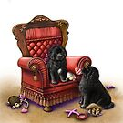 Newfie puppies valentine  by Patricia Reeder Eubank