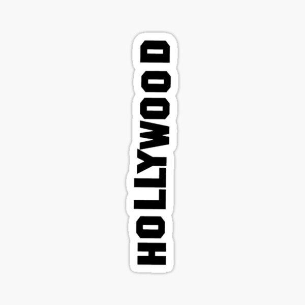 Hollywood Sign Sticker
