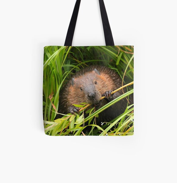 Beaver Munching, Lost Lagoon, Stanley Park BC All Over Print Tote Bag