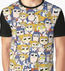 Pop Team Epic - Popuko & Pipimi Collage Graphic T-Shirt