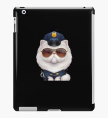 Persian Cat Dressed as a Police Officer iPad Case/Skin
